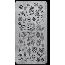 Пластина для стемпинга Tattoo