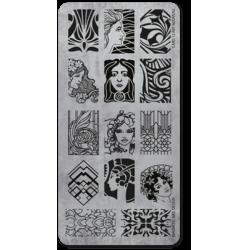 Пластина для стемпінгу Art Nouveau - Пластина для стемпинга Art Nouveau